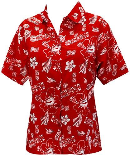 *La Leela* Regular fit Campo Hawaiano Botón de Manga Corta Camisa de los Hombres Abajo Hawaiano Negro rM4BIOe