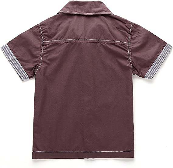 SNOW DREAMS Baby Boys Plaid Shirt Long Sleeve Turn-Down Collar Cotton Button Down Shirts