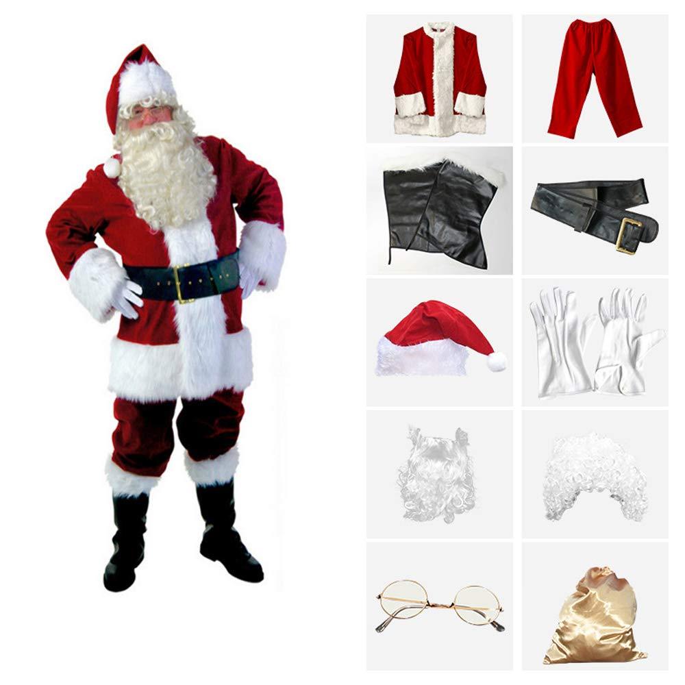 Trajes De Papá Noel 10 Piezas Disfraces De Navidad Conjunto ...