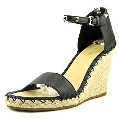 a55a76c4ec9 Marc Fisher Women s Kicker Espadrille Wedge Sandal Black 10 Medium US