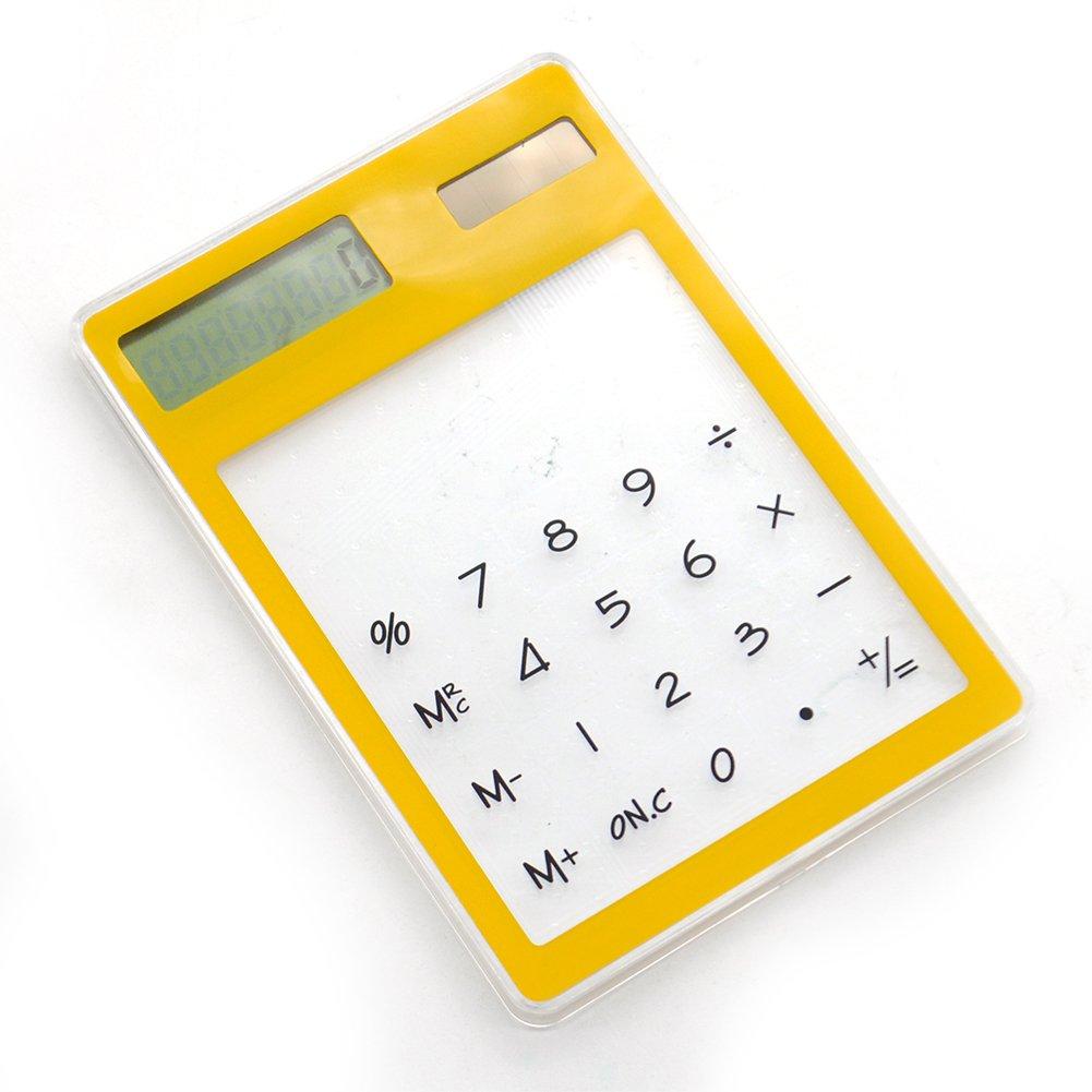 Energia solare calcolatrice, LCD 8cifre touch screen ultra slim trasparente calcolatrice scientifica calcolatrice per studenti scuola ufficio free size purple Lionina