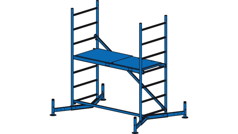 LIH116 Escalera Andamio Modular, 1500 mm x 600 mm Plataforma, 1.95 m Longitud: Amazon.es: Industria, empresas y ciencia