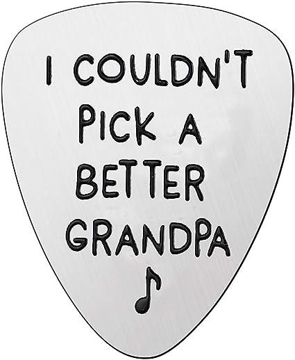 Best Grandpa Gifts - Púa para guitarra con texto en inglés