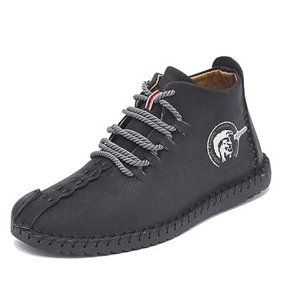 0e666207 LIEBE721 Men's Casual Ankle Chukka Boots Winter Warm Non-Slip Plush ...