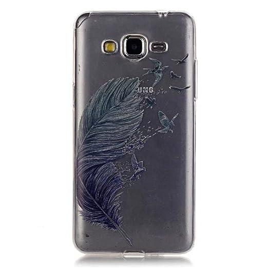 5 opinioni per HUANGTAOLI Custodia in Silicone TPU Case Cover per Samsung Galaxy Grand Prime