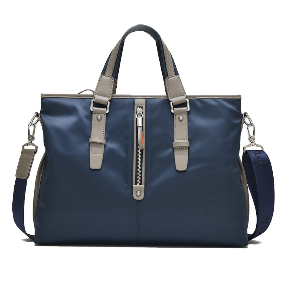 Men's Tote Bag Waterproof Oxford Cloth Bag Cross-country Computer Bag Fashion Casual Briefcase,HorizontalBlue-OneSize by NUGJHJT (Image #1)