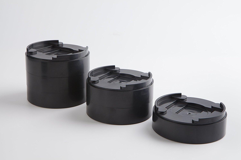 tondi e neri 8/pezzi Uping ambe mobili consentono di collegare liberamente mobili per aggiungere l/'altezza volete rialzi per letto e mobili