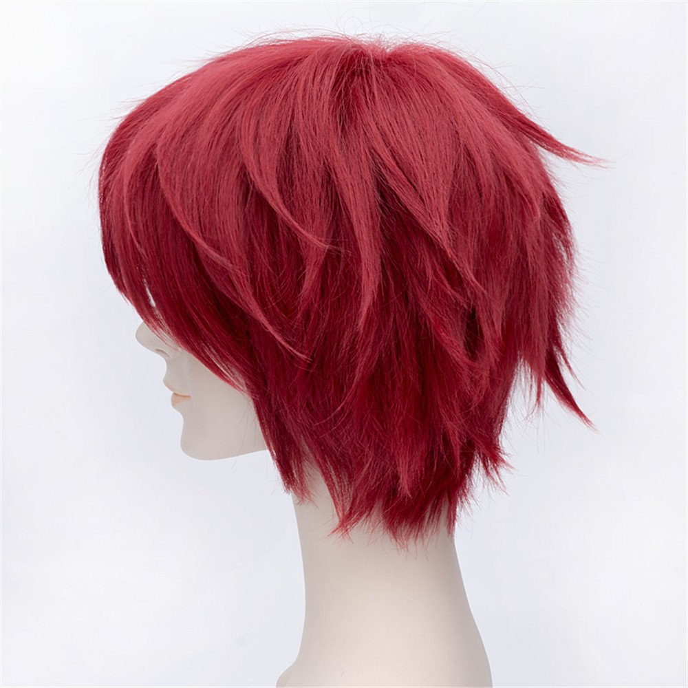 LanTing Cosplay Peluca Naruto Gaara Red Short Styled Woman ...