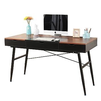 Soges 55u0026quot; Modern Computer Desk Office Desk With Drawers Workstation  Desk Writing Desk Modern Desk