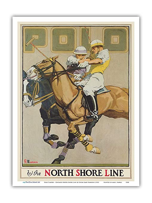 Pacifica Island Art - Jugadores Polo - Línea Chicago North Shore y ...