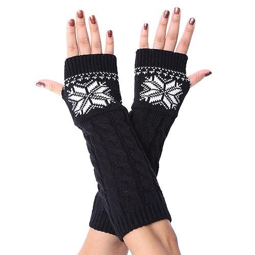(4 colori)iShine guanti donna inverno Maniche a maglia Armband Fiocchi di neve di Natale