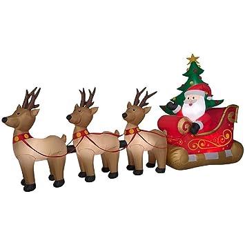 Amazon.com: Holiday Living - Faja hinchable de Navidad (6.1 ...