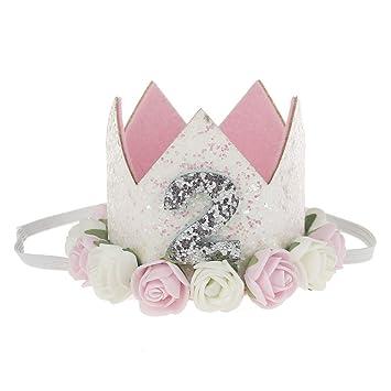 Amazon.com: ambiel – Flor rosa para bebé niña corona ...