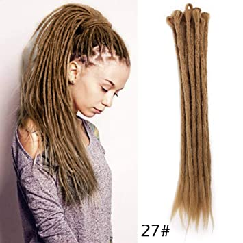 Amazoncom Brown Color Dreadlock Extensions 20inches Reggae Hair