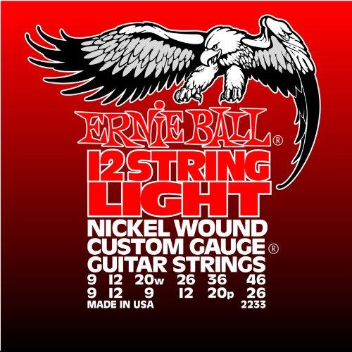 Ernie Ball 12-string Light Nickel Wound Set, .009 - .046