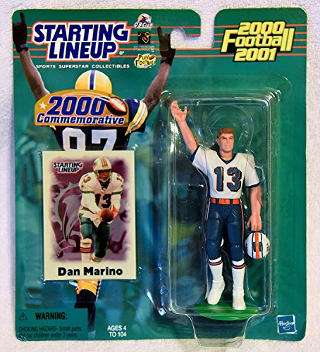 (Starting Lineup 2000 Commemorative Dan Marino Figure and Card NFL Sports Superstar Collectibles)
