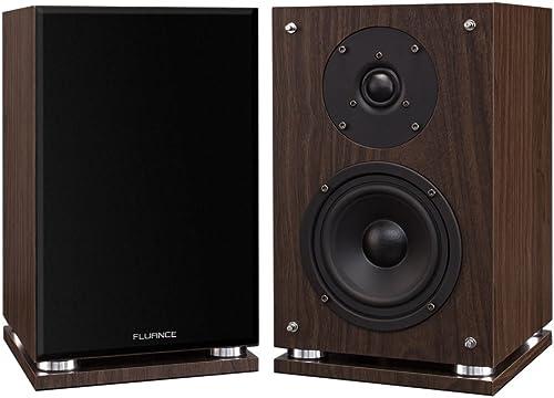 Fluance SX6W High Definition Two-Way Bookshelf Loudspeakers – Natural Walnut