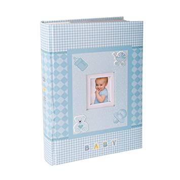 FaCraft Baby Boy Photo Album 4x6 300 Photos 300 Blue