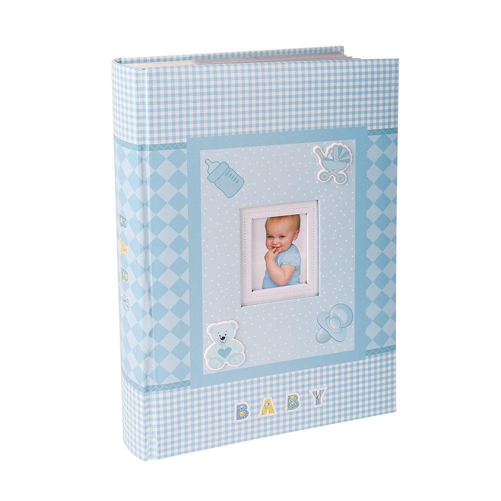 FaCraft Baby Boy Photo Album 4x6 300 Photos (300,Blue)