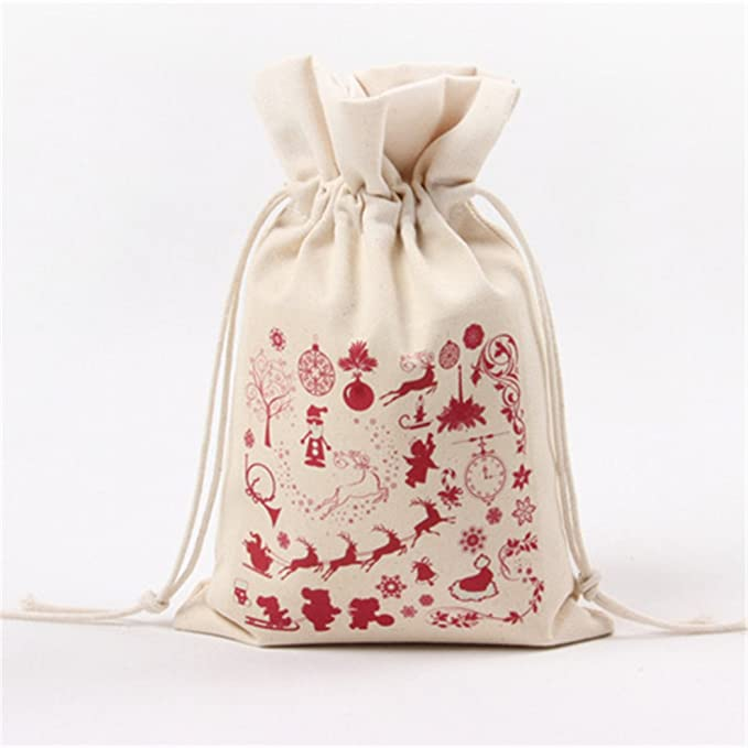 Christmas Gift Packages.Christmas Gift Bags Inf Way Drawstring Organza Gift Packages Santa Sack Wedding Candy Wrap Bags 9 5 X 6 3 Reusable Linen Pouches Type 2