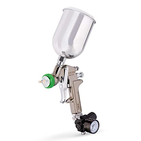 Neiko 31214a Hvlp Gravity Feed Air Spray Gun 1 5mm Nozzle Size 600cc Aluminum Cup 1 5mm Nozzle