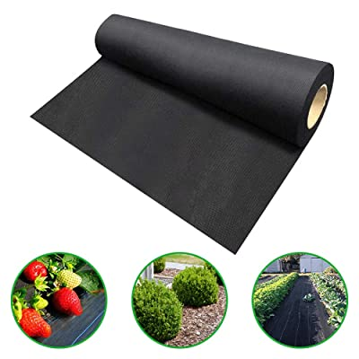 Agfabric Landscape Ground Cover 6x100ft Heavy Duty PP Woven Weed Barrier,Soil Erosion Control and UV stabilized