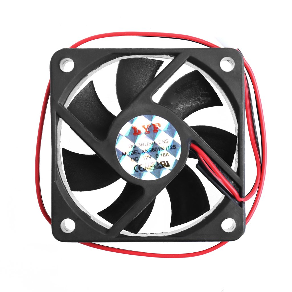 Onpiece 6015 DC 12V 2-Pin 60x60x15mm PC Computer CPU System Sleeve-Bearing Cooling Fan
