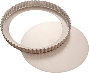 CHEFMADE-Non-stick-Carbon-Steel-Tart-Pan-with-Removable-Bottom