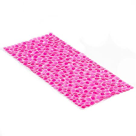 yaya1 pebble mosaic big sucker 36x75cm rose red home bathroom mat rh amazon co uk rose red homecoming dress red rose care home