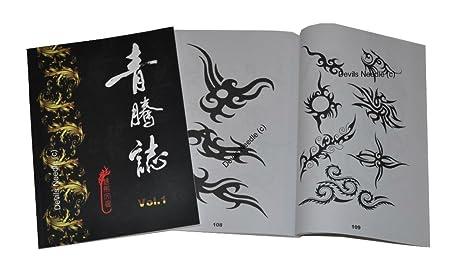 Tatuaje-libro - cepa flores/dragón/Koi/animales Vol, 1 (tribal ...