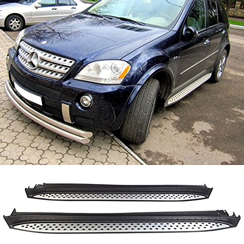UMS SS-W166-1 Black and Silver RUNNING BOARDS