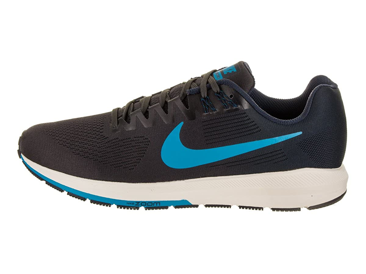 Amazon.com | Nike Mens Air Zoom Structure 21 Running Shoe Obsidian/Blue Hero-Thunder Grey 11.0 | Running