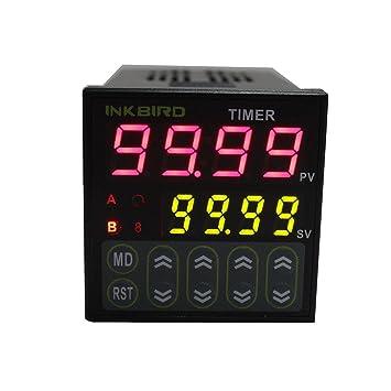 61kXdydUC L._SY355_ inkbird digital twin timer relay time delay relay switch 110 220v,Wiring Twin Timer Relay