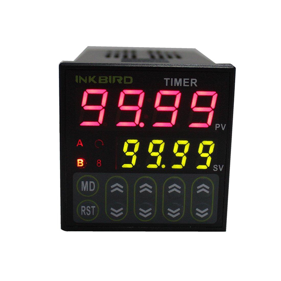 Inkbird Doble Rele 220v PID Termostato Digital ITC-100VH, Calentando y Enfriando Temperatura Control