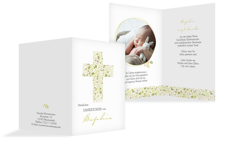 Taufe Dankeskarte Blaumenkreuz, 20 Karten, AquaTürkis B073W9LL5Q | Starke Hitze- und Hitzebeständigkeit  | Elegante und robuste Verpackung  | Bekannt für seine schöne Qualität