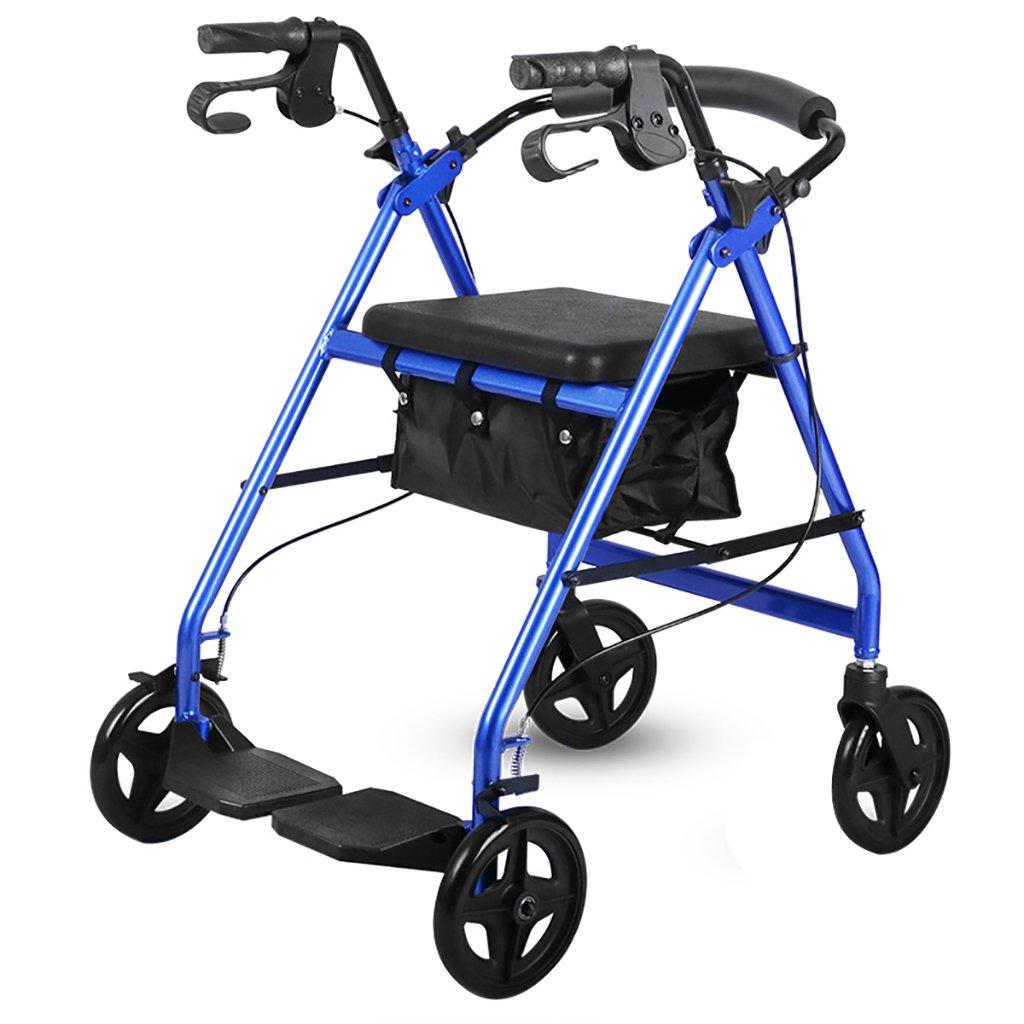 毎日 車椅子折りたたみ式、アルミニウム合金、障害のある高齢者、ショッピングカート、シートベルト付補助ホイールリハビリ用具 B07F5HDQVX
