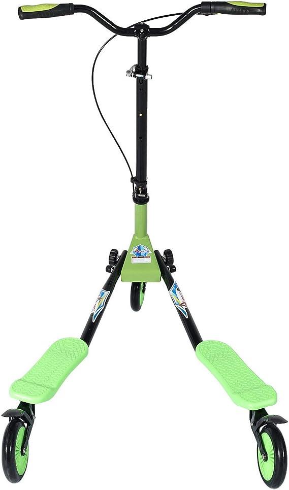 Amazon.com: Patinete de 3 ruedas ajustable plegable AODI con ...