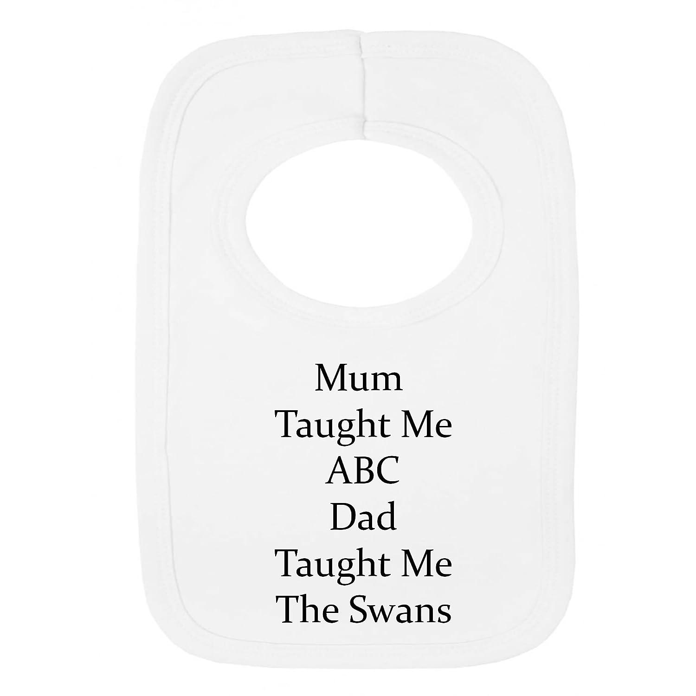 Personalizado babero - Swansea City Style- Dad enseñar ME- (no Pegatina)-Beautifully Embroidered: Amazon.es: Bebé