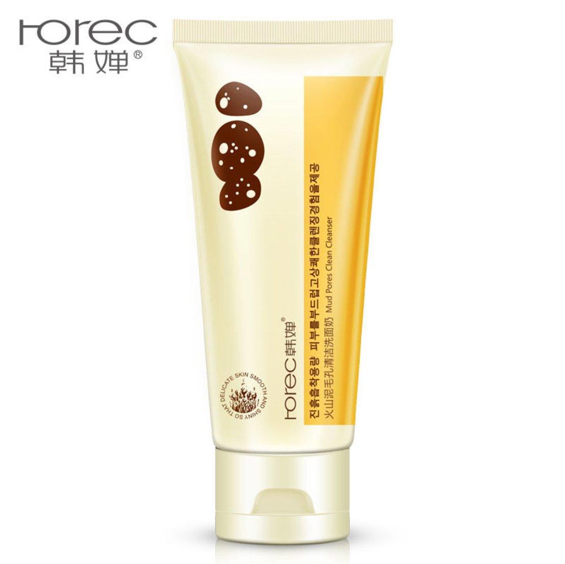 ROREC Volcanic Mud Clean Pore Cleanser Foam Natural Skin Сare Moisture