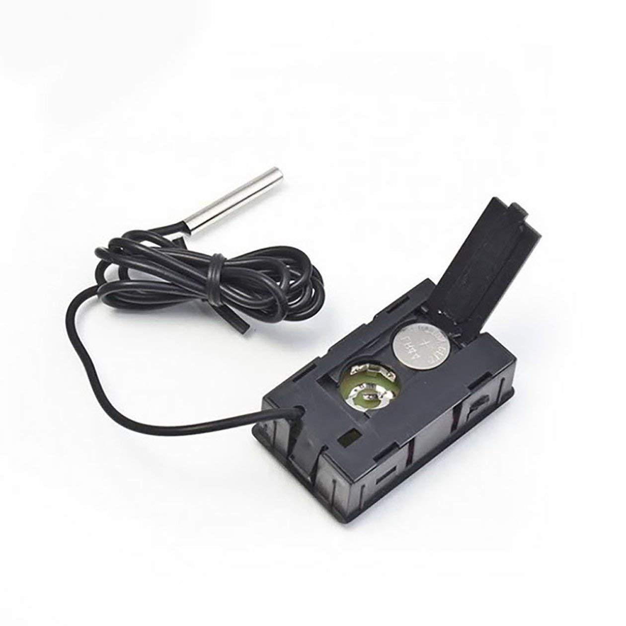 Thermom/ètre de voiture Ornements de voiture Affichage LCD Horloge num/érique Car-Styling Indicateur de temp/érature pour compteur de poissons R/éfrig/érateur couleur: noir