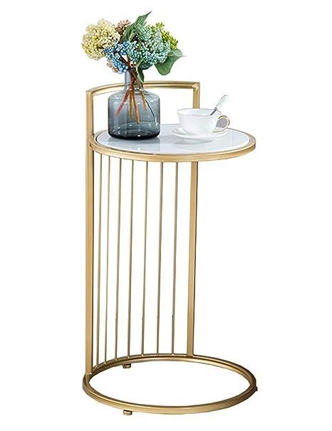 Amazon.com: Mesa de café redonda / mesa lateral, mesa de ...
