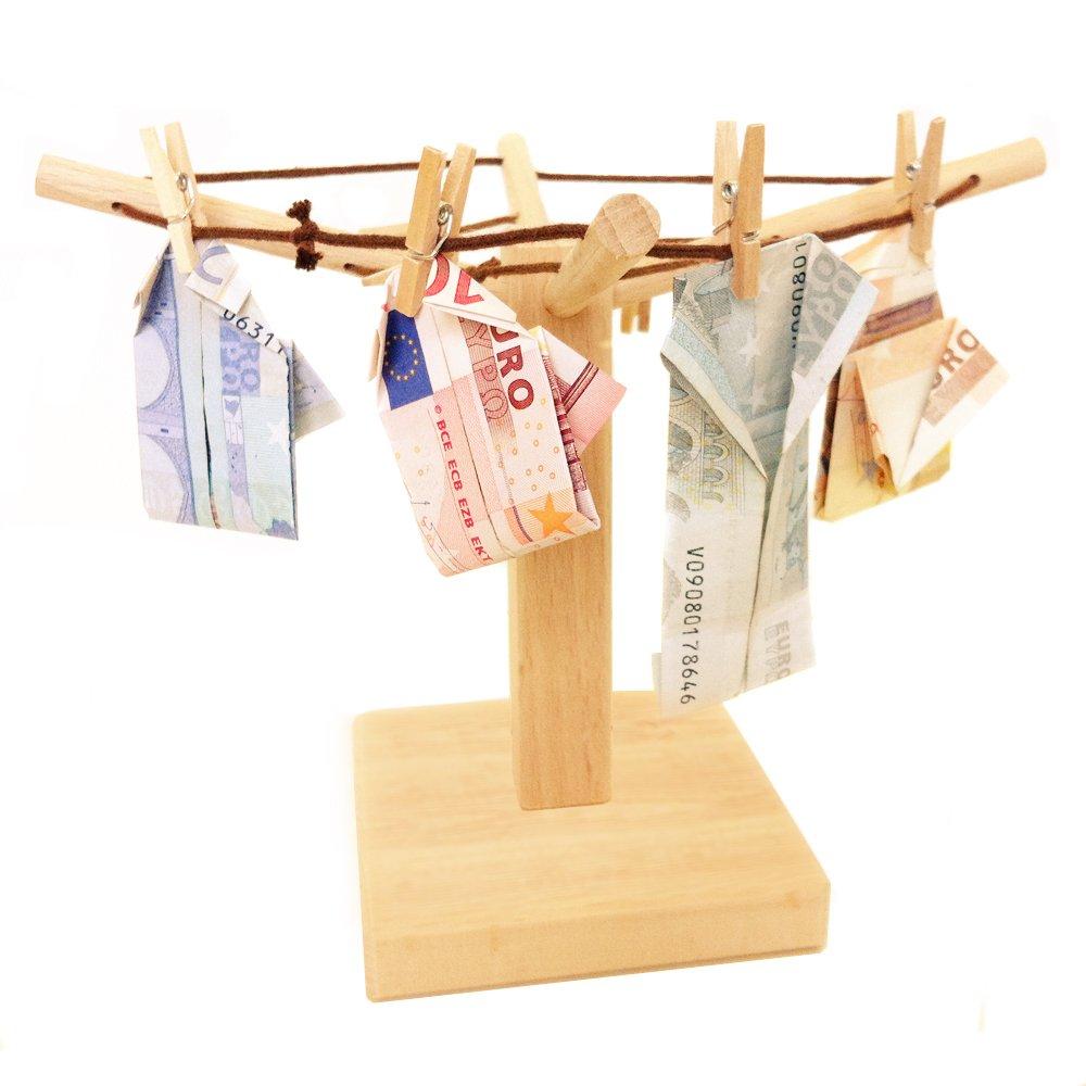 Tendedero de madera pequeño para regalos de dinero y fotos – Regalo ideal de boda – De alta calidad – 20 x 15 cm – Ideas originales para decorar Magische Geschenkbox