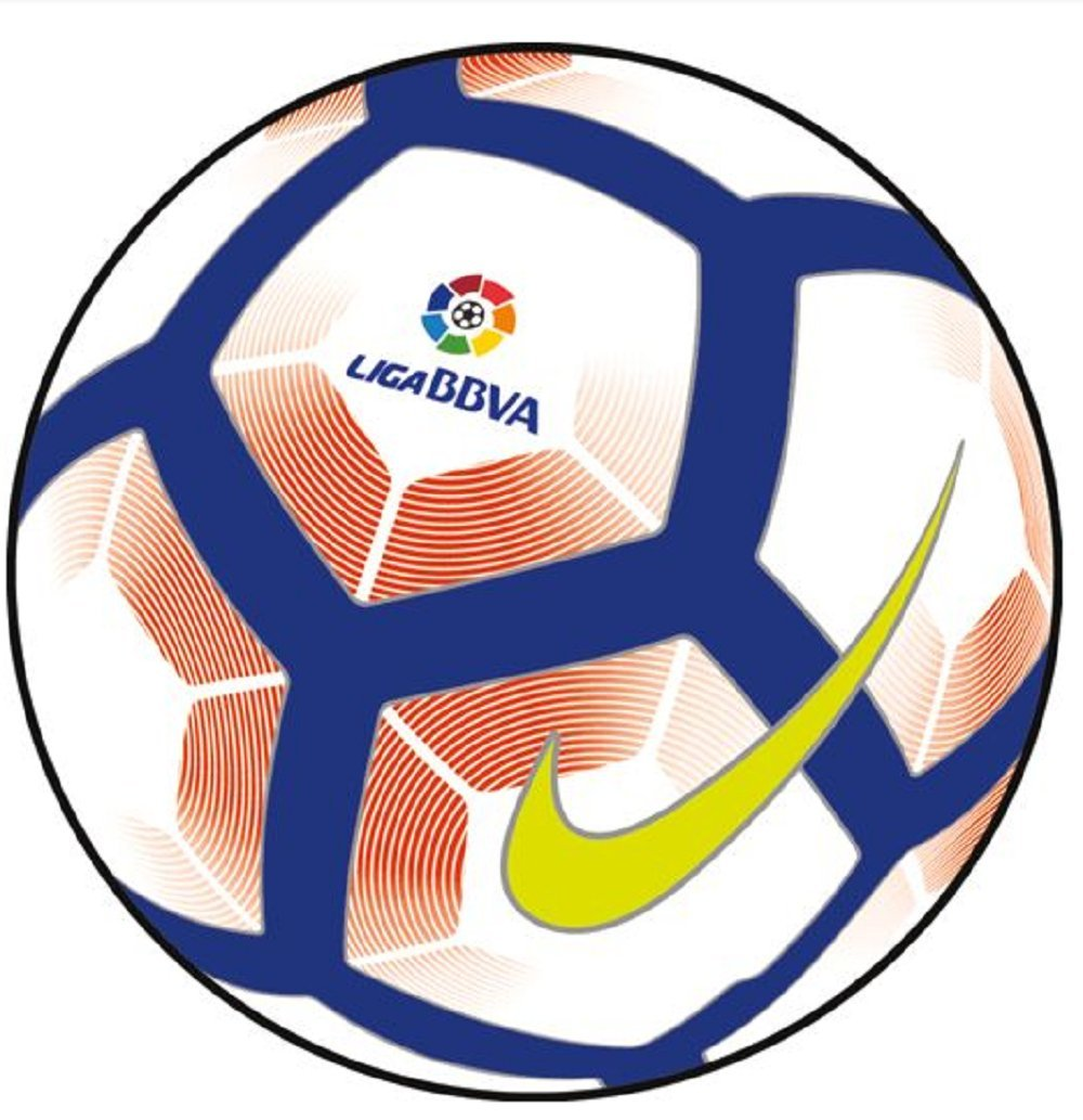 Nike Pitch-LA Liga Balón, Unisex Adulto, (Blanco/Orange/Blue/Negro ...