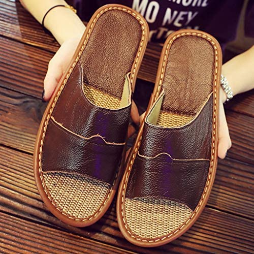Canserin Men's Athletic Slides Sandals Indoor Home Household Flat Shoes Beach Shower Slippers