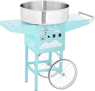 Royal Catering Máquina De Algodón De Azúcar con Carrito RCZC-1200-BG (1200 W, Ø 52 cm, 1 porción /30-60 s, Control separado del termostato y la rotación, incl. dosificador) Turquesa: Amazon.es: Hogar