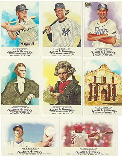 2009 Topps Allen and Ginter Series MLB Baseball and Historical Figures 350 Card Set with Shortprints from Topps