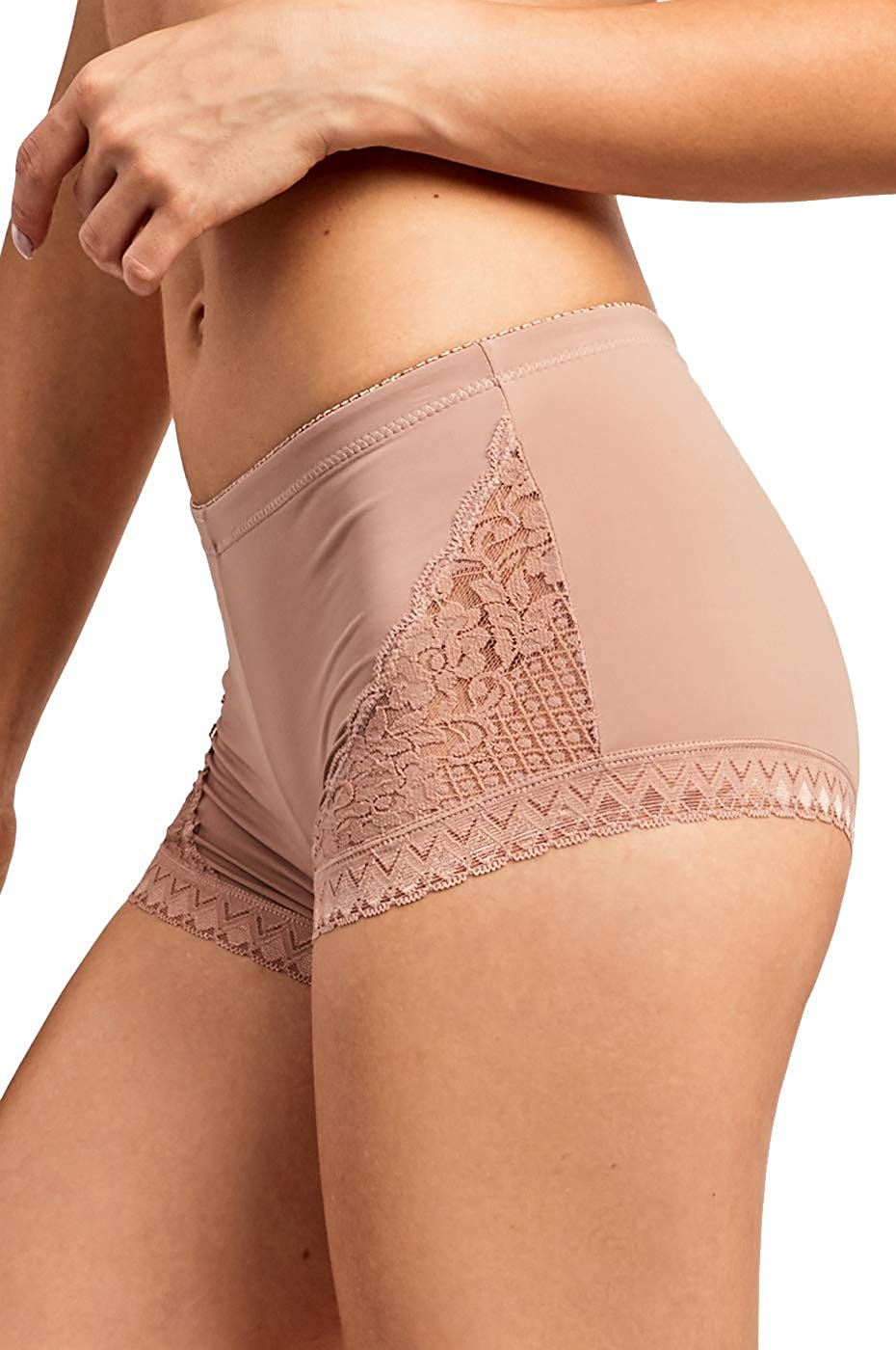 Pack of 6 or 2 Womens Premium Lace Side Trim Boyshort Panty