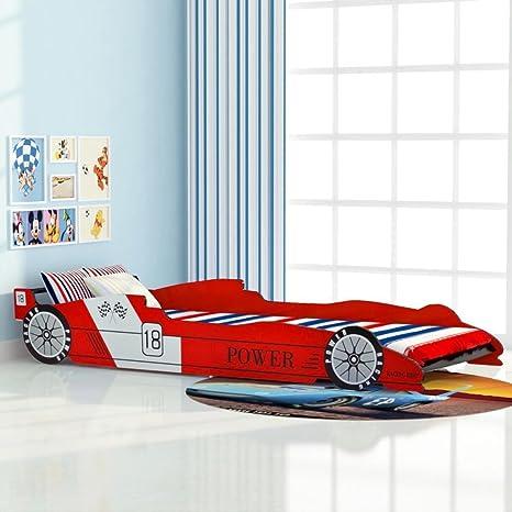 Xuzheu Letto Con Forma Di Auto Da Corsa Per Bambini 90 X 200 Cm