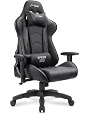 Homall Gaming Chair Racing Office Chair Leather Computer Desk Chair Adjustable Swivel Chair with Headrest and Lumbar Support