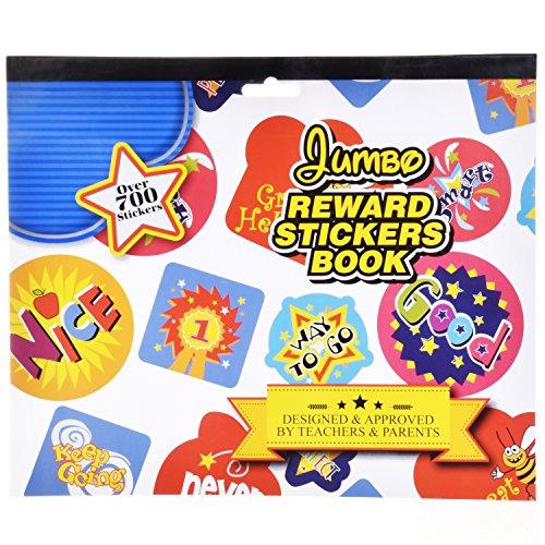 Ram-Pro Over 700 Reward Stickers Book - Science Stickers for Teachers Teacher Stickers for Kids Star Stickers for Teachers Classroom Toddler Reward Stickers, Book of Stickers for Teachers